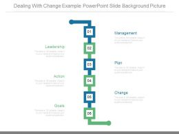 Dealing With Change Example Powerpoint Slide Background Picture