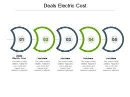 Deals Electric Cost Ppt Powerpoint Presentation Layouts Templates Cpb
