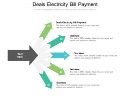 Deals Electricity Bill Payment Ppt Powerpoint Presentation Infographics Topics Cpb
