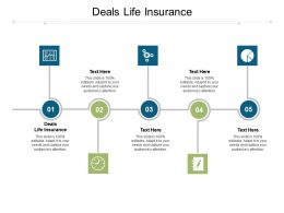 Deals Life Insurance Ppt Powerpoint Presentation Show Maker Cpb