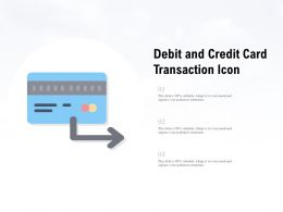 Debit And Credit Card Transaction Icon