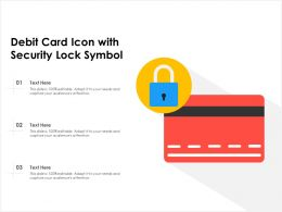 Debit Card Icon With Security Lock Symbol