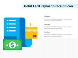 Debit Card Payment Receipt Icon