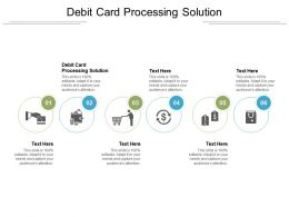 Debit Card Processing Solution Ppt Powerpoint Presentation Pictures Graphics Cpb