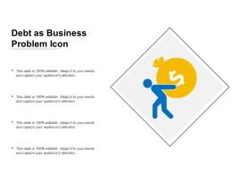 Debt As Business Problem Icon