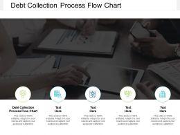 Debt Collection Process Flow Chart Ppt Powerpoint Presentation Portfolio Designs Cpb