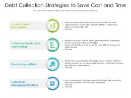 Debt Collection Strategies To Save Cost And Time