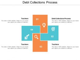 Debt Collections Process Ppt Powerpoint Presentation Styles Portfolio Cpb