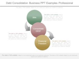 Debt Consolidation Business Ppt Examples Professional