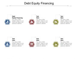 Debt Equity Financing Ppt Powerpoint Presentation File Sample Cpb