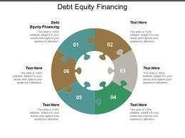 Debt Equity Financing Ppt Powerpoint Presentation Layouts Gallery Cpb