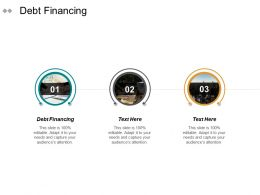 Debt Financing Ppt Powerpoint Presentation Gallery Brochure Cpb