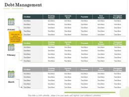 Debt Management Administration Management Ppt Brochure