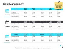 Debt Management Business Operations Management Ppt Brochure
