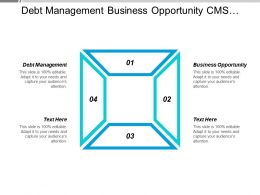 Debt Management Business Opportunity Cms Content Management Collaborative Working Cpb