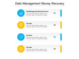 Debt Management Money Recovery Ppt Powerpoint Presentation Layouts Layouts Cpb