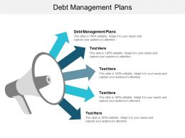 Debt Management Plans Ppt Powerpoint Presentation Model Layouts Cpb