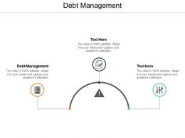 Debt Management Ppt Powerpoint Presentation Summary Slide Download Cpb
