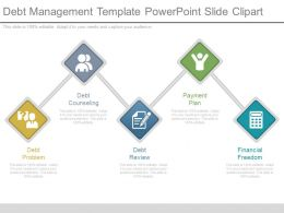 Debt Management Template Powerpoint Slide Clipart