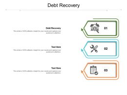 Debt Recovery Ppt Powerpoint Presentation Slides Design Ideas Cpb