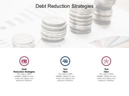 Debt Reduction Strategies Ppt Powerpoint Presentation Slide Cpb