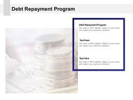 Debt Repayment Program Ppt Powerpoint Presentation Layouts Grid Cpb