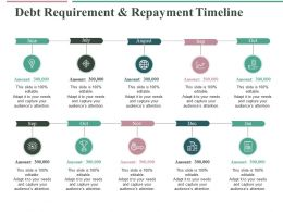 Debt Requirement And Repayment Timeline Ppt Professional Design Inspiration