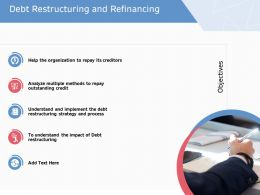 Debt Restructuring And Refinancing Objectives Ppt Show Format Ideas