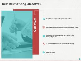 Debt Restructuring Objectives Ppt Powerpoint Presentation Inspiration Objects