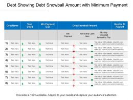 Debt Showing Debt Snowball Amount With Minimum Payment