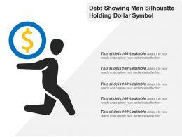 Debt Showing Man Silhouette Holding Dollar Symbol