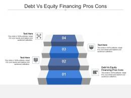 Debt Vs Equity Financing Pros Cons Ppt Powerpoint Presentation Infographic Template Background Cpb