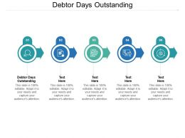Debtor Days Outstanding Ppt Powerpoint Presentation File Show Cpb