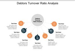 Debtors Turnover Ratio Analysis Ppt Powerpoint Presentation Icon Graphics Example Cpb