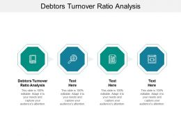 Debtors Turnover Ratio Analysis Ppt Powerpoint Presentation Summary Shapes Cpb