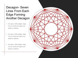 Decagon Seven Lines From Each Edge Forming Another Decagon