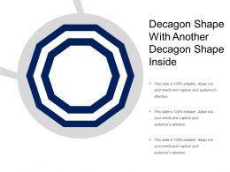 Decagon Shape With Another Decagon Shape Inside