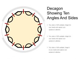 Decagon Showing Ten Angles And Sides