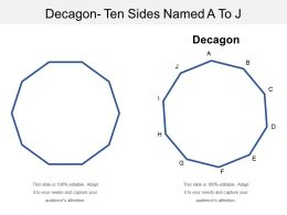 Decagon Ten Sides Named A To