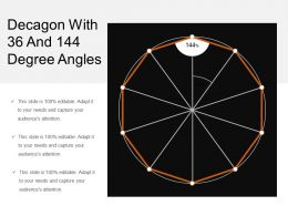 Decagon With 36 And 144 Degree Angles