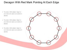 Decagon With Red Mark Pointing At Each Edge