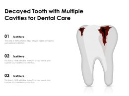 Decayed Tooth With Multiple Cavities For Dental Care