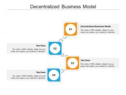Decentralized Business Model Ppt Powerpoint Presentation Model Images Cpb