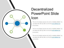 Decentralized Powerpoint Slide Icon