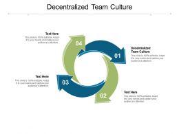 Decentralized Team Culture Ppt Powerpoint Presentation Portfolio Format Ideas Cpb