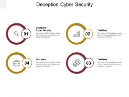 Deception Cyber Security Ppt Powerpoint Presentation Inspiration Graphic Tips Cpb