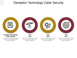 Deception Technology Cyber Security Ppt Powerpoint Presentation Guide Cpb