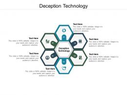 Deception Technology Ppt Powerpoint Presentation Pictures Graphics Template Cpb