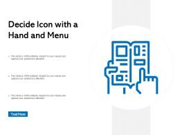 Decide Icon With A Hand And Menu