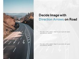 Decide Image With Direction Arrows On Road